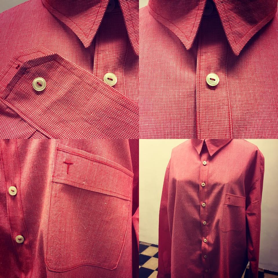 bel-colom-camisa-tela-llista-vermella